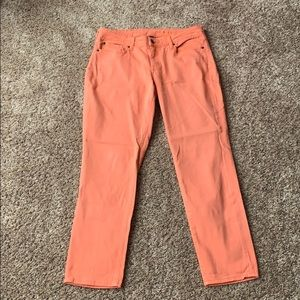 Gap cropped coral color jeans